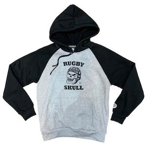 RUGBY SKULL Pullover Hoody Gray × Black