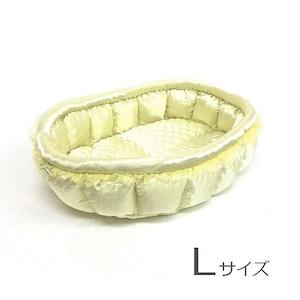ふーじこちゃんママ手作り ぽんぽんベッド (サテンレモン)Lサイズ【PB17-059L】