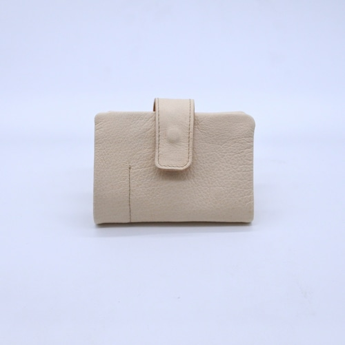 Yezo deer soft wallet S tanned natural