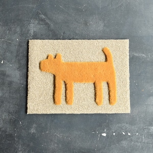 """F/style DOGGY MAT """"HOUSE"""" 玄関マット/犬用マット YELLOW"""