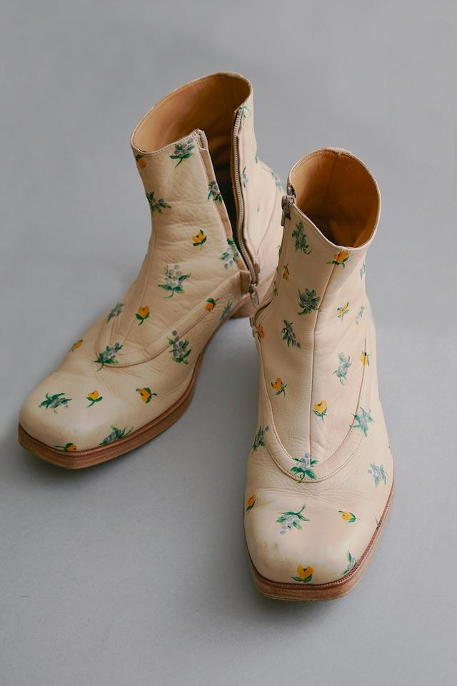 M A S U / BALLET BOOTS <FLOWER HAND PAINT>(ECRU)