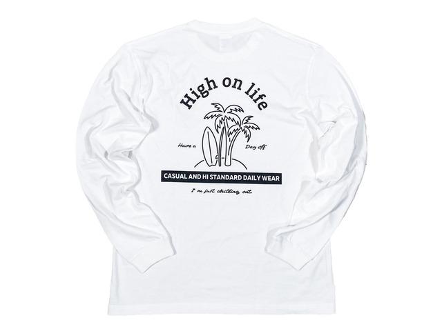 【High on life long sleeve】/ white