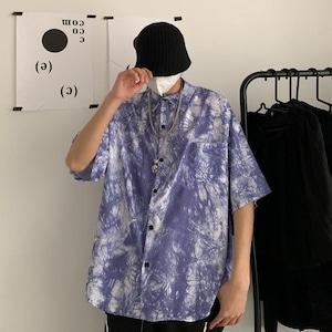 【トップス】図柄ファッションプリントオーバーサイズペアルックシャツ30951214