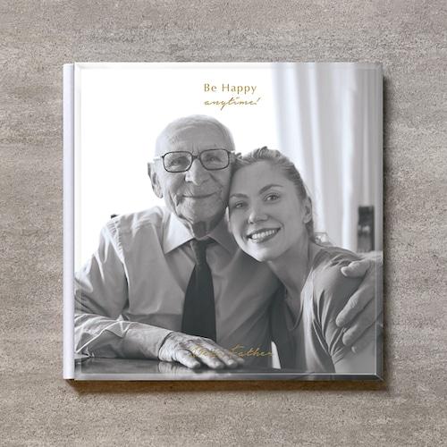 Be Happy(monochrome)-FAMILY_A4スクエア_10ページ/20カット_クラシックアルバム(アクリルカバー)