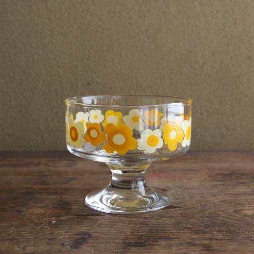 佐々木ガラス 花柄デザートカップ
