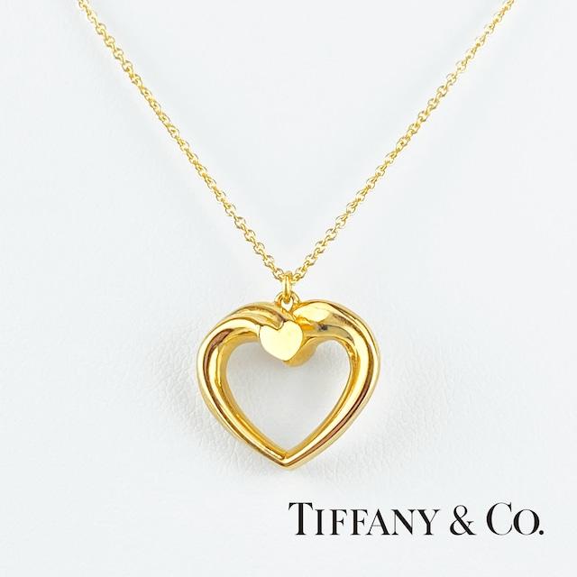 TIFFANY&Co. ティファニー ニューテンダネス ハート ネックレス K18 YG イエローゴールド ネックレス