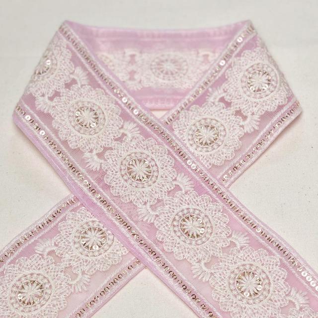 219 チュール大輪単色 ピンク