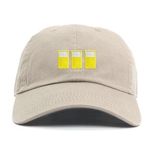 BEER 三連ピクトグラム刺繍CAP カーキ