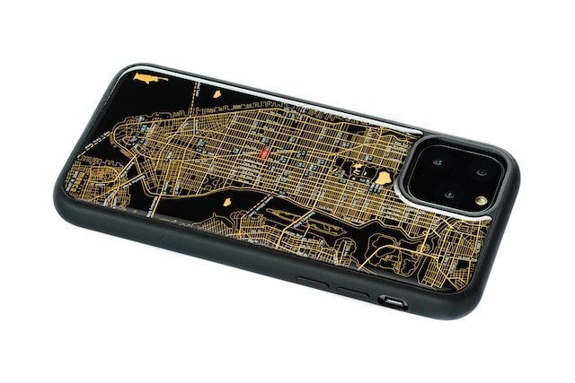 FLASH NY回路地図 iPhone 11 Pro ケース  黒【東京回路線図A5クリアファイルをプレゼント】