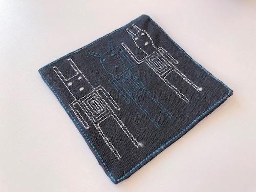 【レンテン族】自然染・手縫いコースター ひと