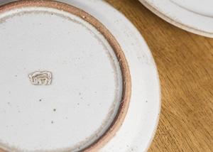 SHIROUMA 洋皿 18cm 白(中皿・パン皿・ケーキ皿)/長谷川 哲也