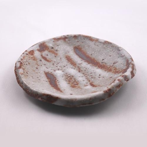 鼠志野 小皿 丸  Nezumishino Small Plate - Round