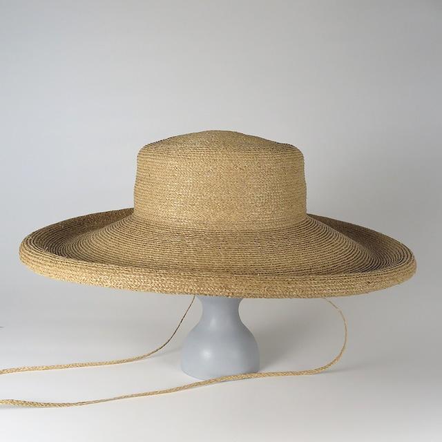SS20-BD-8 Raffia Braid Roll-Up Brim Hat BEG