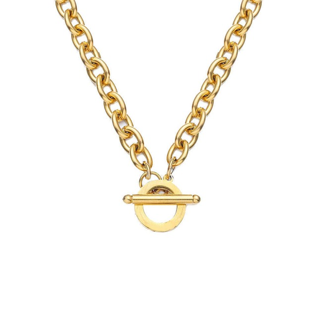316L Toggle Chain Necklace 【GOLD】