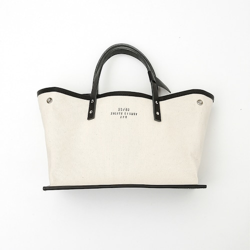 20/80(CANVAS #8 LEATHER BOTTOM TOTE S)