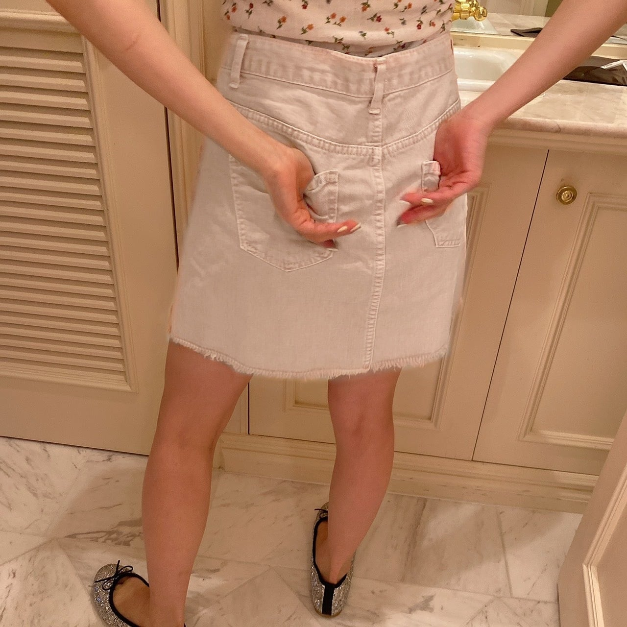 【LAST2】denim mini skirt