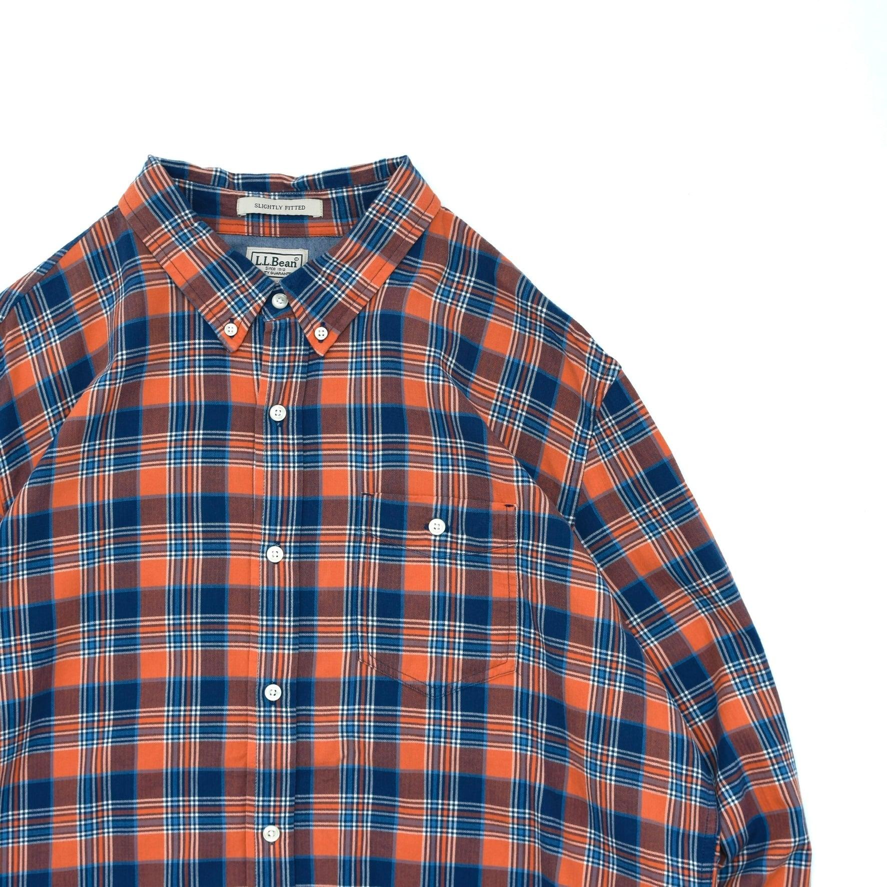 L.L.Bean button down  cotton check shirt