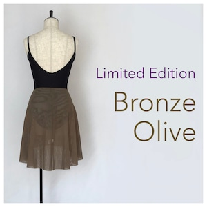 "◆Limited Edition・Minimalist Ballet Skirt ""BRONZE OLIVE""(限定カラー:ブロンズ・オリーブ)"