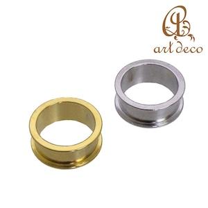 アクセサリー パーツ 指輪 リング 1個 幅 8mm 内径16mm [ri-25779] 粘土 樹脂 土台 ハンドメイド オリジナル 材料 金具 装飾 カラワク 空枠