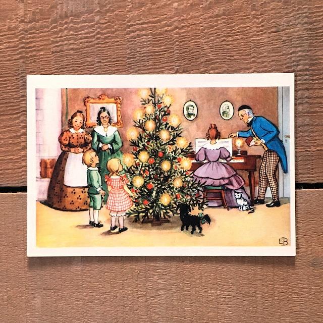 エルサ・ベスコフ レトロカード「Petters och Lottas jul(ペッテルとロッタのクリスマス)」《201101-07》