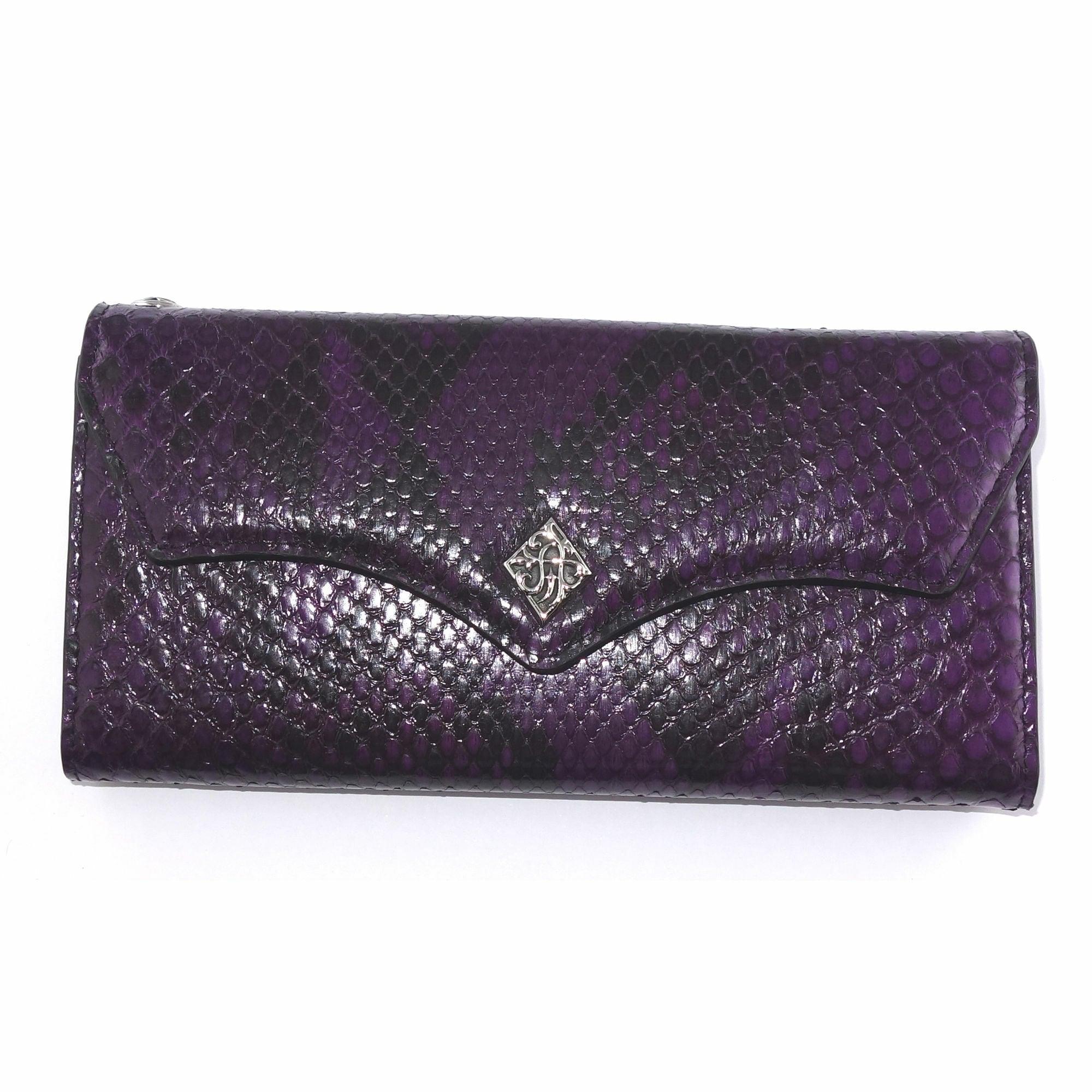 パープルパイソンロングウォレット ACW0008 Purple python long wallet