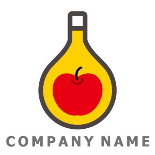 りんごイメージ ロゴデザイン