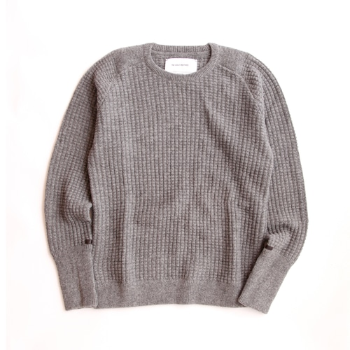THE INOUE BROTHERS/Low Gauge/Waffle Crew Neck/Grey