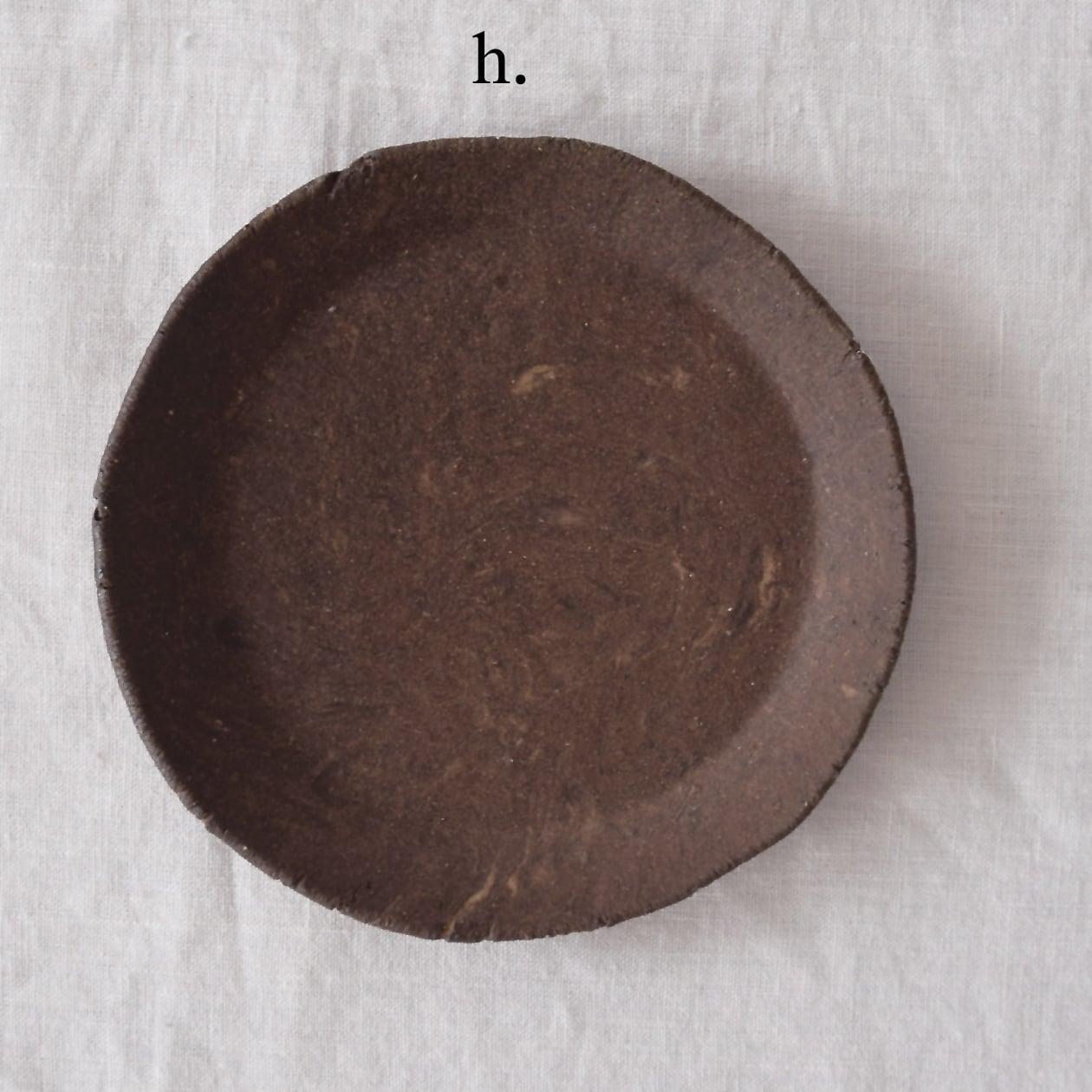 細川敬弘 Takahiro Hosokawa 自然練り込み リム皿 6寸 h.