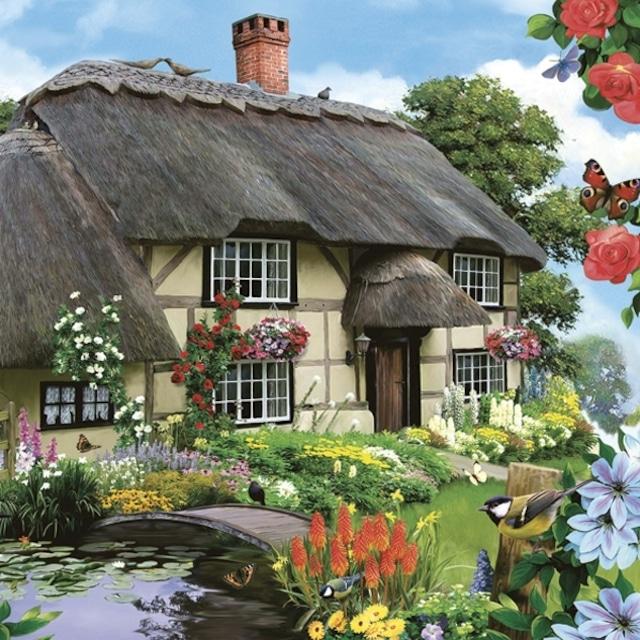 【Maki】バラ売り2枚 ランチサイズ ペーパーナプキン Countryfield Cottage ブラウン