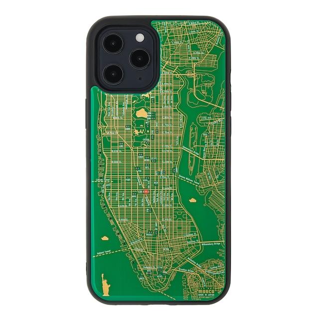 FLASH NY回路地図 iPhone 12 Pro Maxケース  緑【東京回路線図A5クリアファイルをプレゼント】