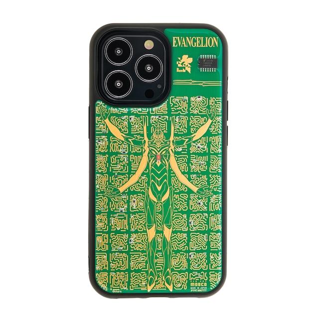 FLASH EVA13 基板アート iPhone 13 Proケース 緑【東京回路線図A5クリアファイルをプレゼント】