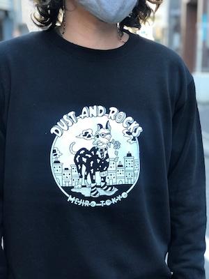 "DUST AND ROCKS × Yutaka Nojima Sweat Shirt ""Dog Race"""