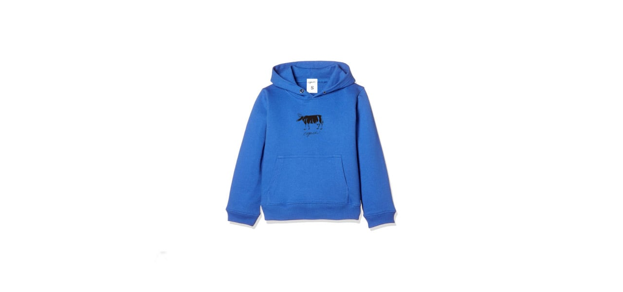 coguchi cow kids hoodie (BL)