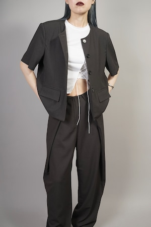 CROPPED JACKET (CHARCOAL) 2106-52-82