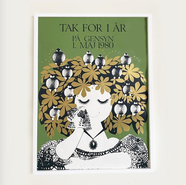 Vintage poster TIVOLI GARDENS with frame / PO-TI-001