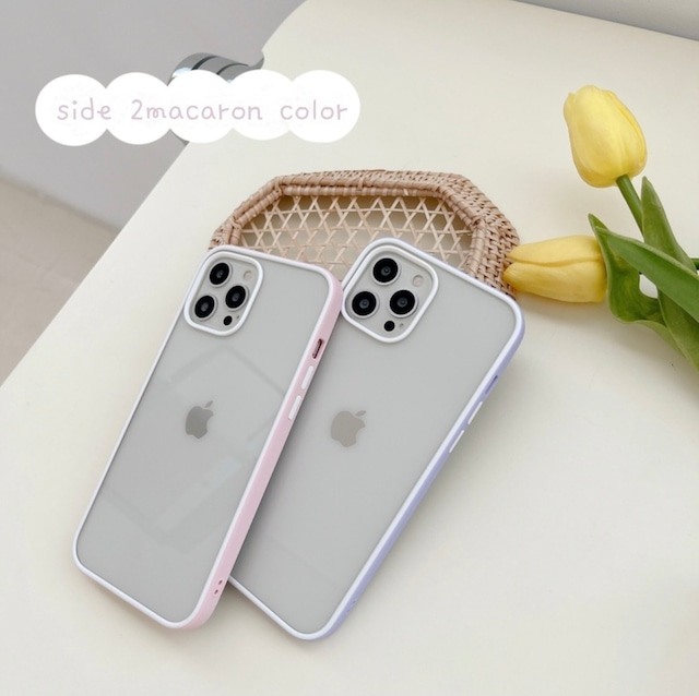 Side 2macaron color iphone case