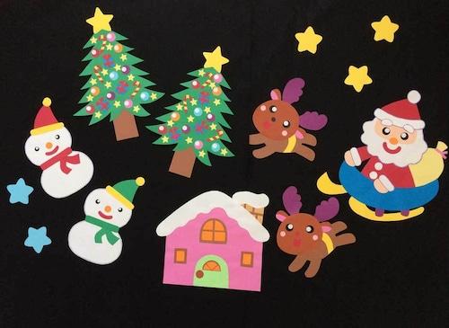 【クリスマスの壁面装飾】やっぱり楽しいクリスマス