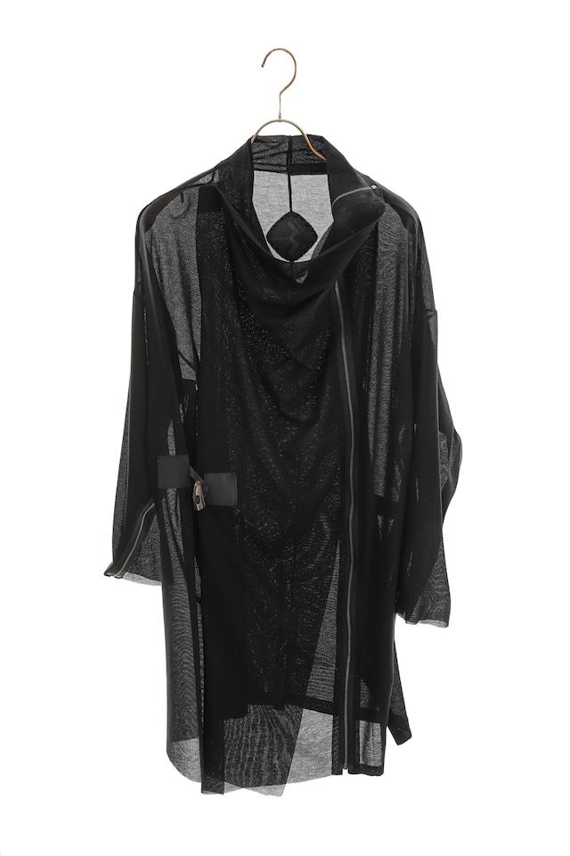 [着るアート][DFA AWARD]BLACK COAT/STOLE COTTON 301621[登録意匠]
