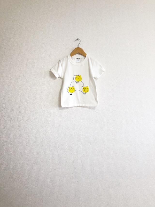 つるねこひげねこキッズTシャツ 110cm