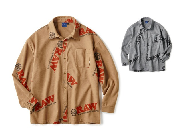 RAW × INTERBREED|Logo Textile Work Shirts