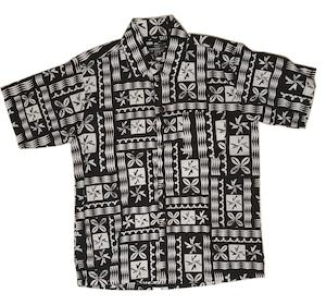 Aloha Shirt White×Black【Kids】