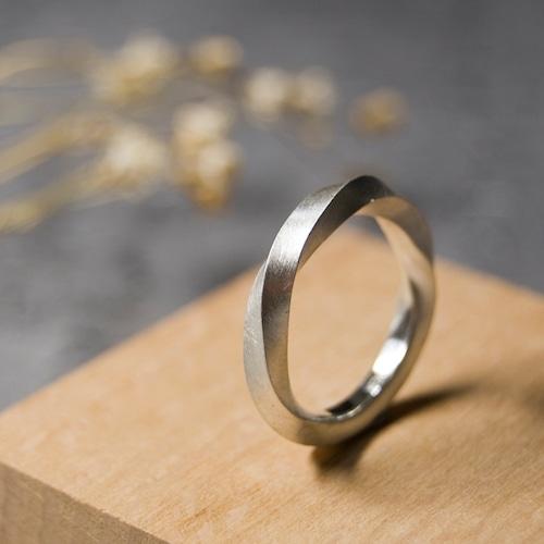 シルバーツイストリング 2.5mm幅 マット 3号~27号 WKS TWIST RING 2.5 sv matte SILVER950 銀 指輪 FA-256