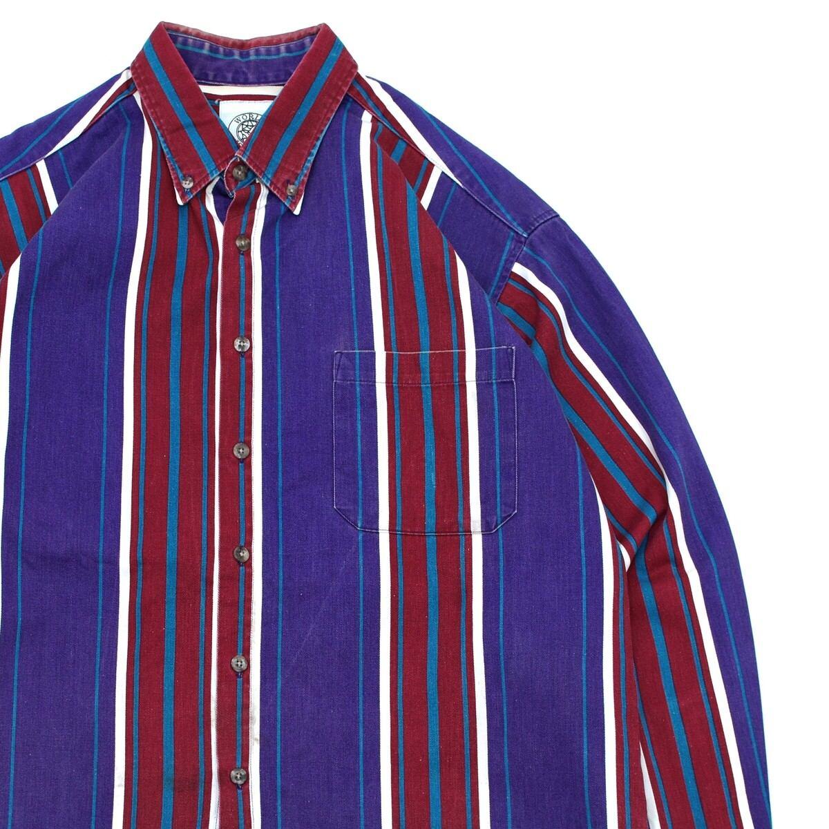 Made in USA multi stripe shirt