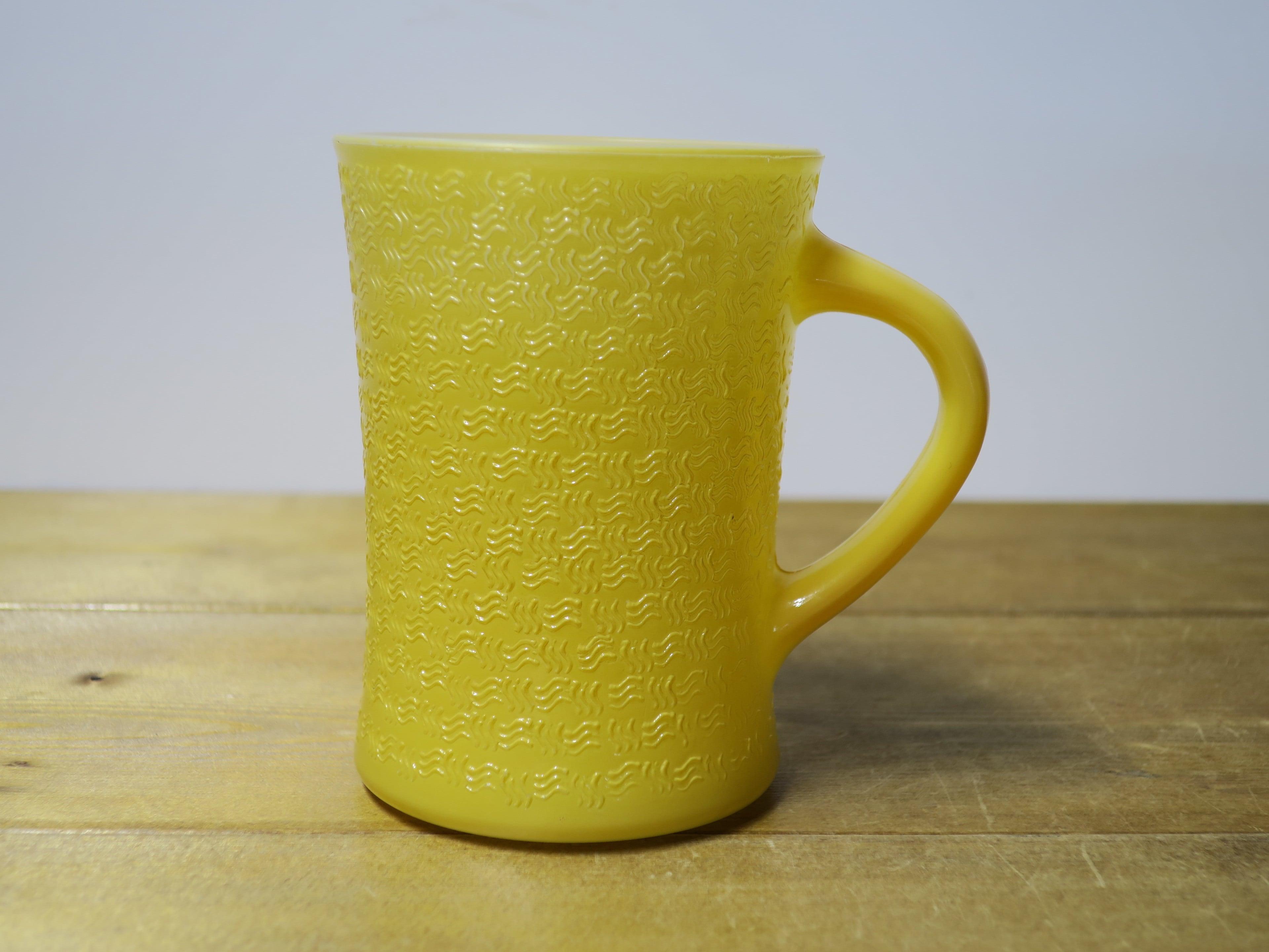 Glasbake バスケットウイーブマグ 黄