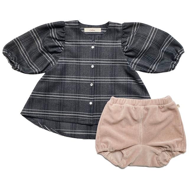 【ベビー服】フレアチュニックとブルマ / ホワイト / 80~100サイズ