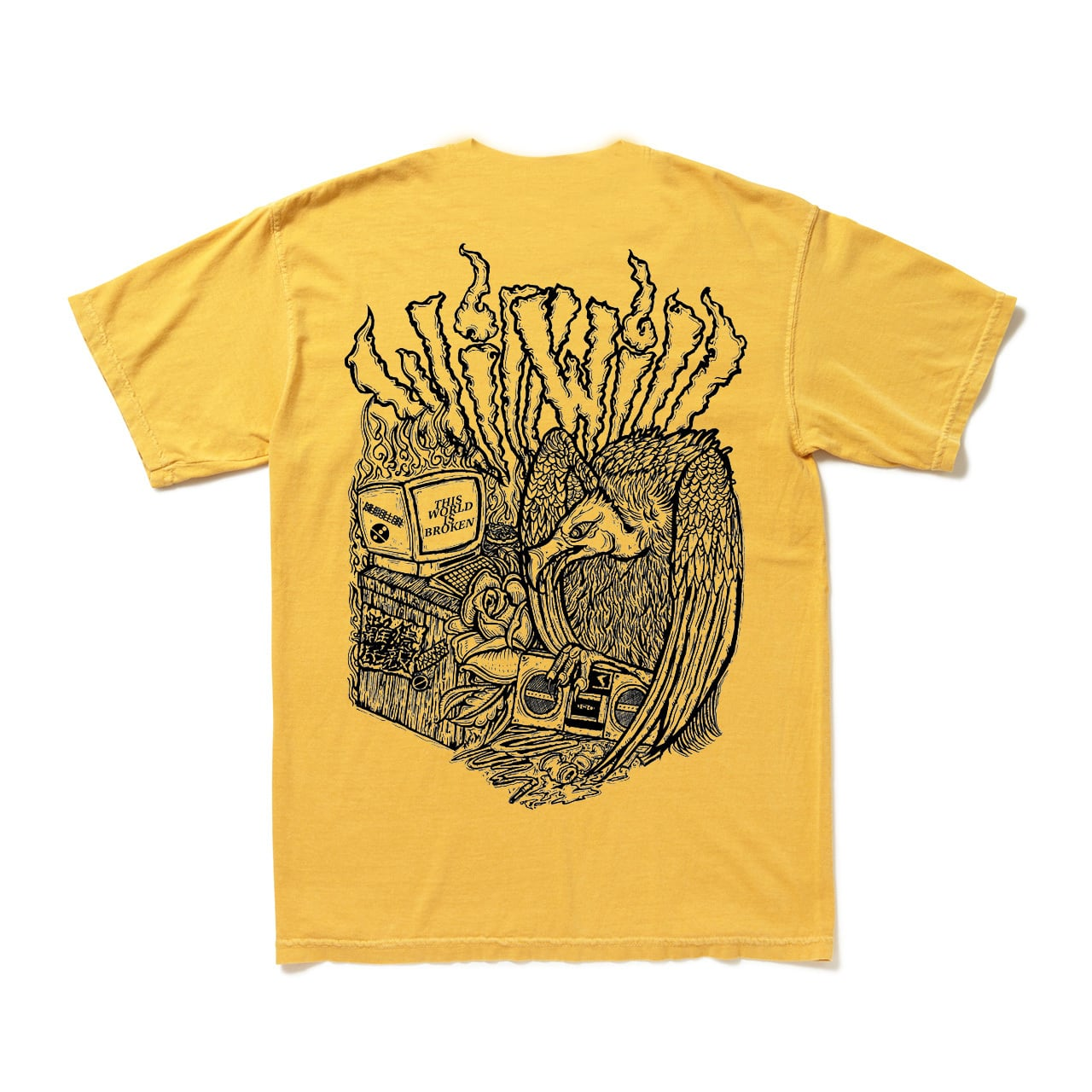 【WillxWill × Musollon】スペシャルコラボレーション Vulture T-shirtsYellow