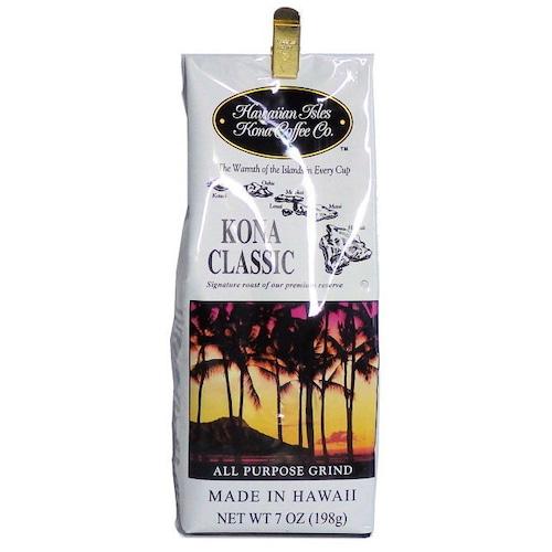 コナクラシック(挽き済みの粉) ハワイアンアイルズ(7oz 198g) ハワイコナコーヒー ノンフレーバー