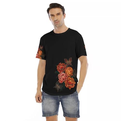 和牡丹 メンズ&レディースTシャツ ベルベット or ジャージ