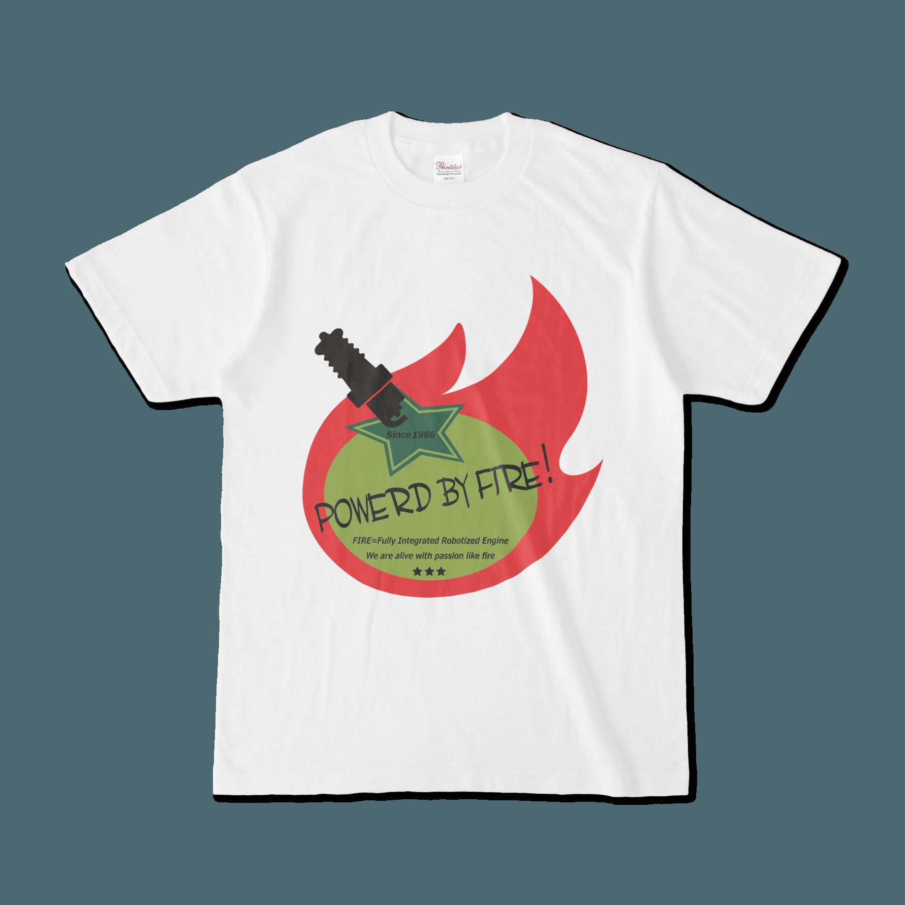 Powerd by fire デザインTシャツ(トリコローレ)