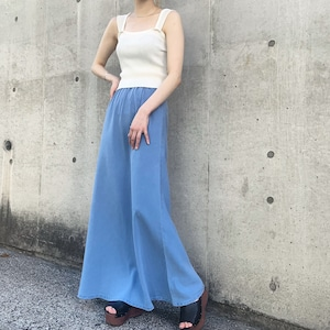 vintage peach skin long skirt
